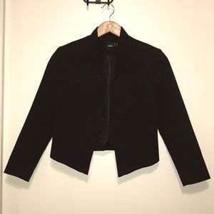 ASOS cropped black blazer with notched collar US 4